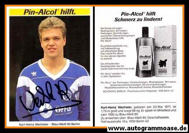 Autogramm Fussball | Blau-Weiss 90 Berlin | 1990 | Karl-Heinz WECHSLER