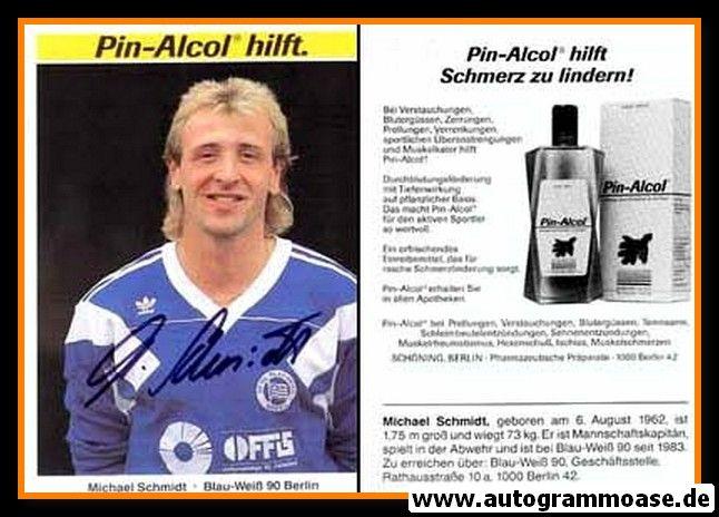 Autogramm Fussball   Blau-Weiss 90 Berlin   1990   Michael SCHMIDT