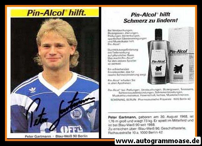 Autogramm Fussball   Blau-Weiss 90 Berlin   1990   Peter GARTMANN