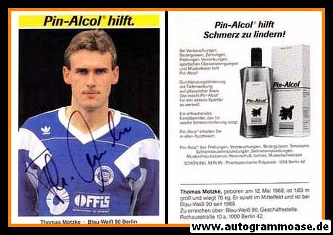 Autogramm Fussball   Blau-Weiss 90 Berlin   1990   Thomas MOTZKE