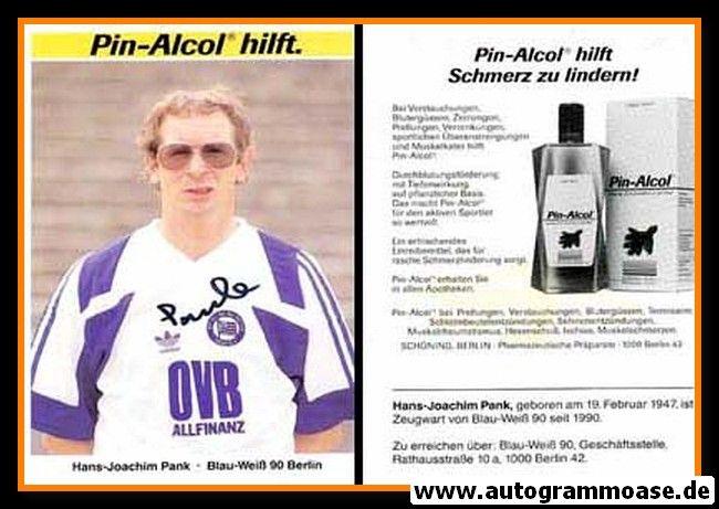 Autogramm Fussball | Blau-Weiss 90 Berlin | 1991 | Hans-Joachim PANK