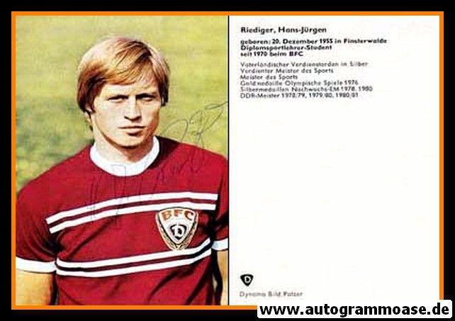 Autogramm Fussball   BFC Dynamo Berlin   1976   Hans-Jürgen RIEDIGER