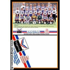Mannschaftskarte Fussball | Hertha BSC Berlin | 1990 Trigema