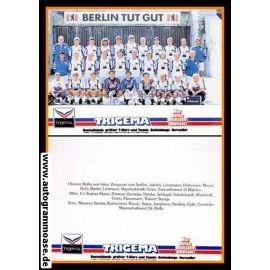 Mannschaftskarte Fussball   Hertha BSC Berlin   1991 Trigema