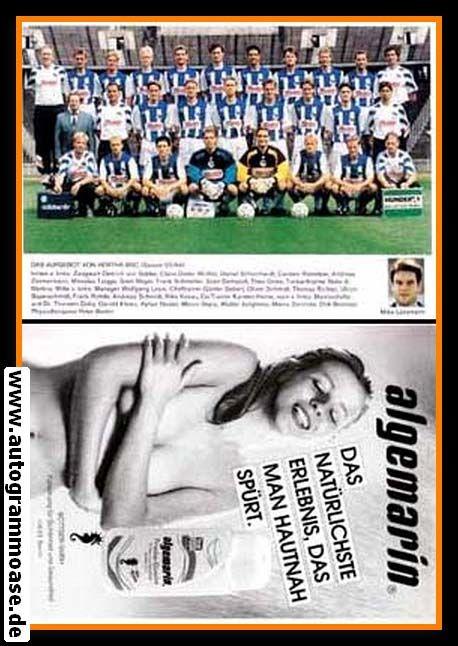 Mannschaftskarte Fussball | Hertha BSC Berlin | 1993