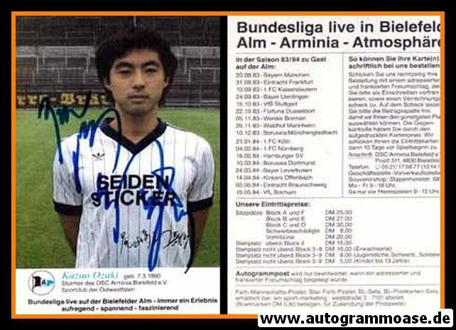 Autogramm Fussball | DSC Arminia Bielefeld | 1983 | Kazuo OZAKI