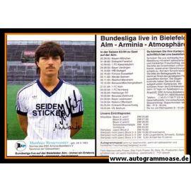 Autogramm Fussball   DSC Arminia Bielefeld   1983   Matthias WESTERWINTER