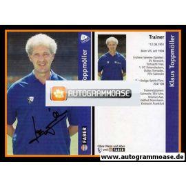 Autogramm Fussball   VfL Bochum   1997   Klaus TOPPMÖLLER