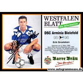 Autogramm Fussball | DSC Arminia Bielefeld | 1995 | Erik GROELEKEN