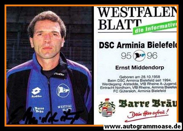 Autogramm Fussball   DSC Arminia Bielefeld   1995   Ernst MIDDENDORP