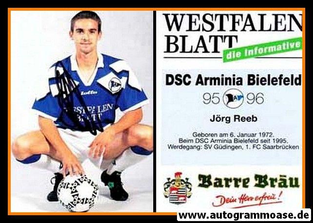Autogramm Fussball   DSC Arminia Bielefeld   1995   Jörg REEB