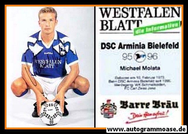 Autogramm Fussball | DSC Arminia Bielefeld | 1995 | Michael MOLATA