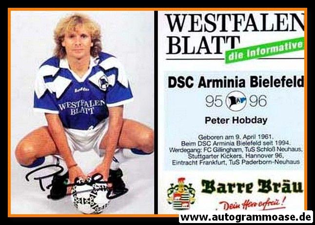 Autogramm Fussball | DSC Arminia Bielefeld | 1995 | Peter HOBDAY
