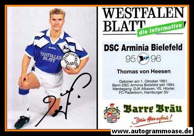 Autogramm Fussball | DSC Arminia Bielefeld | 1995 | Thomas VON HEESEN