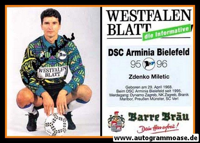 Autogramm Fussball   DSC Arminia Bielefeld   1995   Zdenko MILETIC