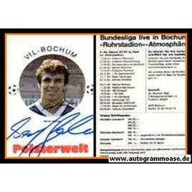 Autogramm Fussball | VfL Bochum | 1983 | Bernd GERBER