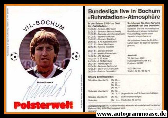 Autogramm Fussball | VfL Bochum | 1983 | Michael LAMECK