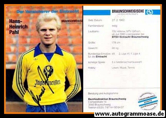 Autogramm Fussball | Eintracht Braunschweig | 1981 | Hans-Heinrich PAHL