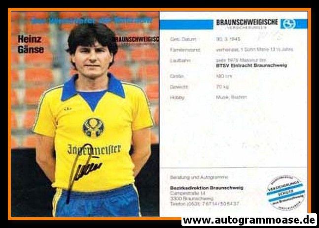 Autogramm Fussball | Eintracht Braunschweig | 1981 | Heinz GÄNSE
