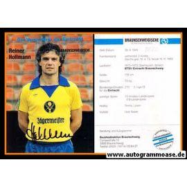 Autogramm Fussball   Eintracht Braunschweig   1981   Reiner HOLLMANN