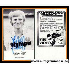 Autogramm Fussball | SV Werder Bremen | 1980 | Klaus FICHTEL