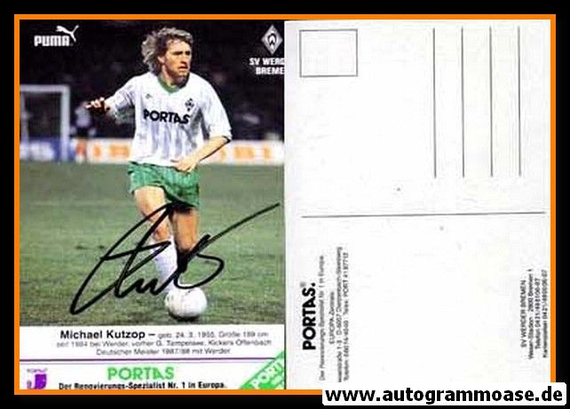 Autogramm Fussball   SV Werder Bremen   1989   Michael KUTZOP