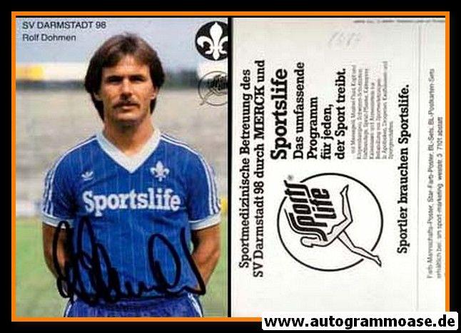 Autogramm Fussball | SV Darmstadt 98 | 1983 | Rolf DOHMEN