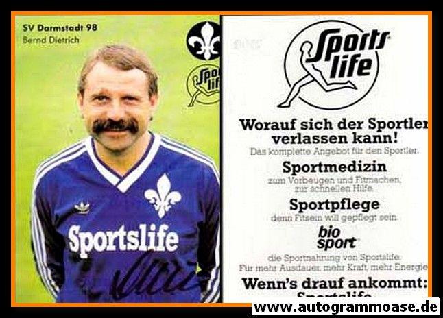 Autogramm Fussball | SV Darmstadt 98 | 1984 | Bernd DIETRICH