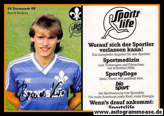 Autogramm Fussball | SV Darmstadt 98 | 1984 | Bernd KRAJCZY