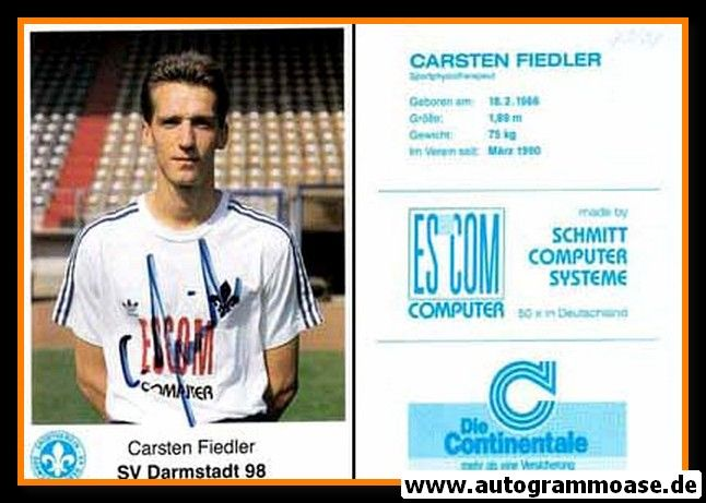 Autogramm Fussball   SV Darmstadt 98   1990   Carsten FIEDLER