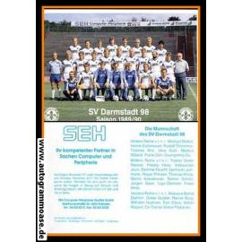 Mannschaftskarte Fussball   SV Darmstadt 98   1989