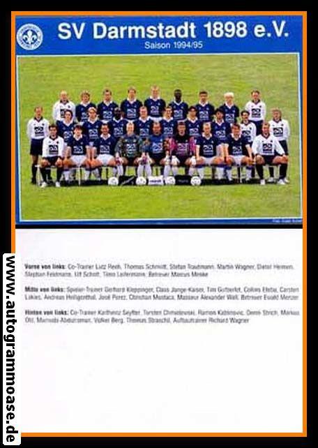 Mannschaftskarte Fussball   SV Darmstadt 98   1994