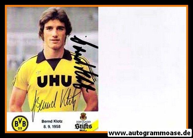 Autogramm Fussball | Borussia Dortmund | 1980 | Bernd KLOTZ