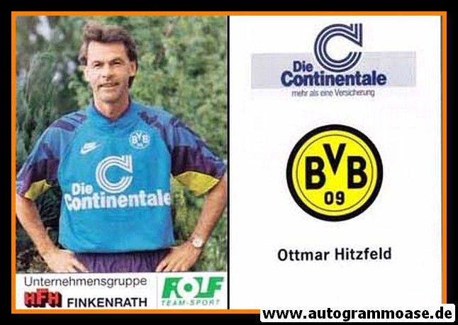 Autogrammkarte Fussball   Borussia Dortmund   1991 Portrait   Ottmar HITZFELD
