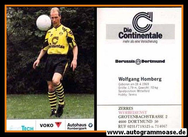 Autogrammkarte Fussball | Borussia Dortmund | 1991 Ball | Wolfgang HOMBERG