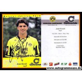 Autogramm Fussball   Borussia Dortmund   1996   Johan KIROVSKI
