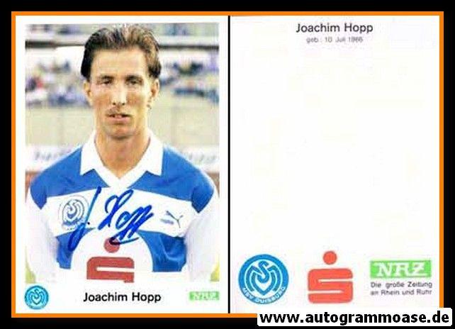 Autogramm Fussball   MSV Duisburg   1989   Joachim HOPP