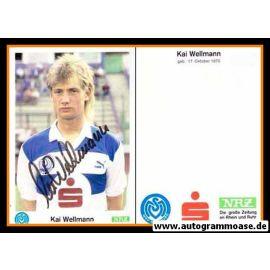 Autogramm Fussball   MSV Duisburg   1989   Kai WELLMANN