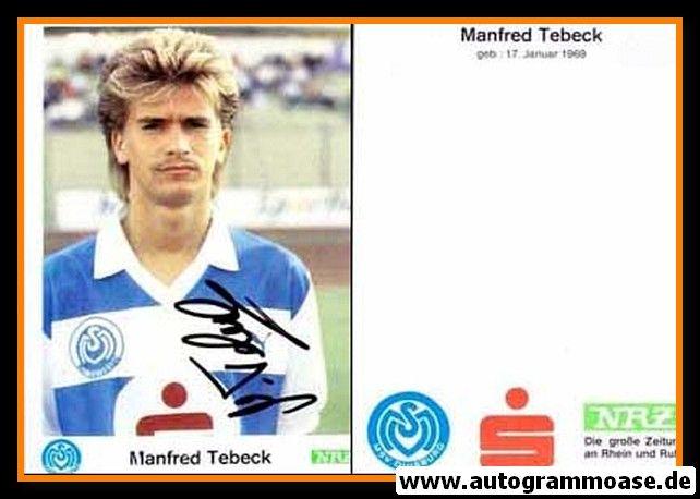 Autogramm Fussball | MSV Duisburg | 1989 | Manfred TEBECK