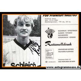 Autogramm Fussball   FSV Frankfurt   1982   Andreas KOCH