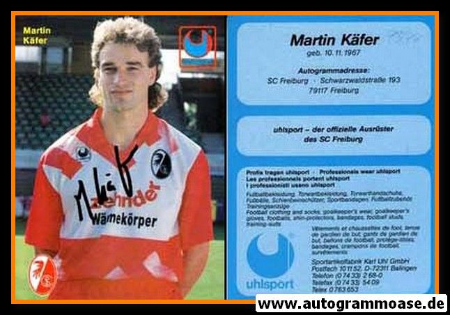 Autogramm Fussball   SC Freiburg   1993-1   Martin KÄFER