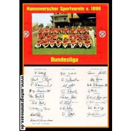 Mannschaftskarte Fussball   Hannover 96   1976