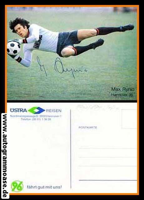 Autogramm Fussball | Hannover 96 | 1980er | Max RYNIO (Hanomag)