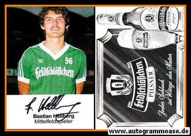 Autogramm Fussball   Hannover 96   1984   Bastian HELLBERG