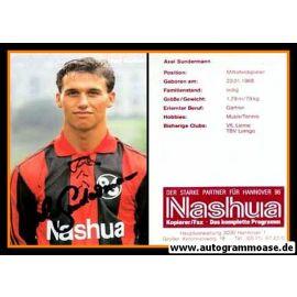 Autogramm Fussball   Hannover 96   1990   Axel SUNDERMANN