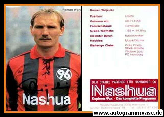 Autogramm Fussball   Hannover 96   1990   Roman WOJCICKI