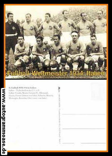 Mannschaftskarte Fussball | Italien | 1934 WM Retro (Spiel CSSR)