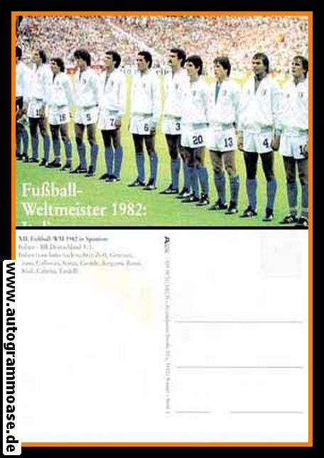 Mannschaftskarte Fussball   Italien   1982 WM Retro (Spiel DFB)
