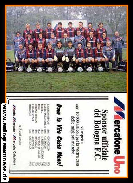 Mannschafskarte Fussball   AC Bologna   1980er (Mercato)