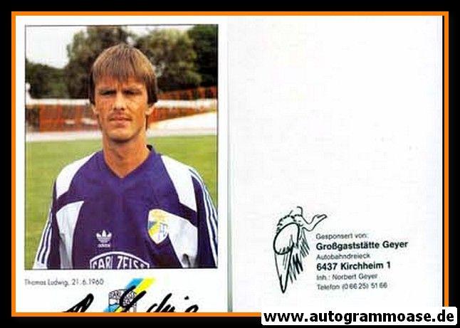 Autogramm Fussball   FC Carl Zeiss Jena   1991   Thomas LUDWIG